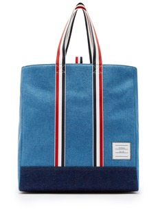 Thom Browne Denim tote bag