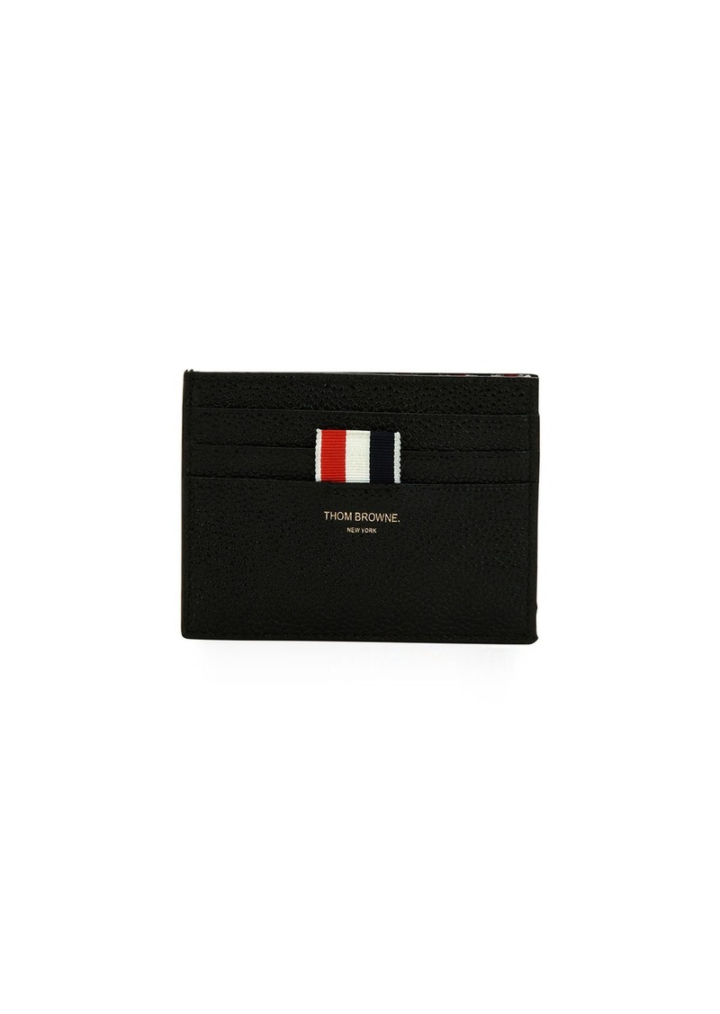 double card holder with striped detail thom browne - Thom Browne Card Holder