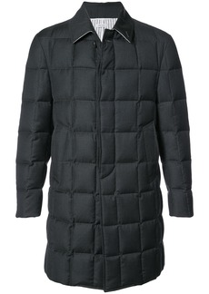 Thom Browne downfilled classic coat - Grey