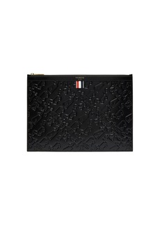 Thom Browne Embossed leather document holder