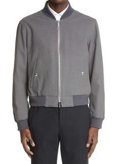 Thom Browne Engineered RWB Stripe Cotton Blend Bomber Jacket