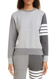Thom Browne Four-Bar Cotton Sweatshirt