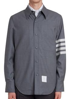 Thom Browne Four-Bar Slim Fit Wool Shirt