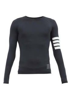 Thom Browne Four-bar technical-jersey compression T-shirt