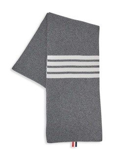 Thom Browne Full Needle Rib Wool Scarf