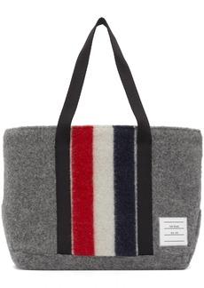 Thom Browne Grey Wool Stripe Small Tool Tote