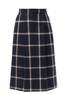 Thom Browne High-rise checked wool-tweed skirt