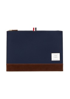 Thom Browne Leather-trimmed document holder