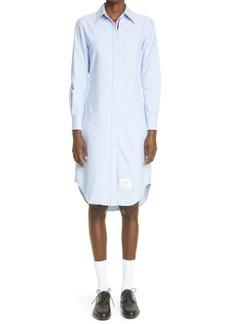 Thom Browne Long Sleeve Oxford Button-Down Shirtdress