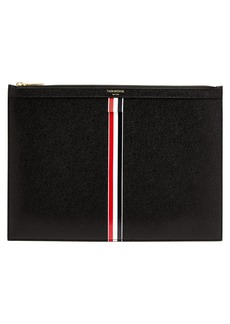 Thom Browne Medium pebbled-leather document holder