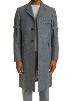 Thom Browne Melton Wool Chesterfield Overcoat
