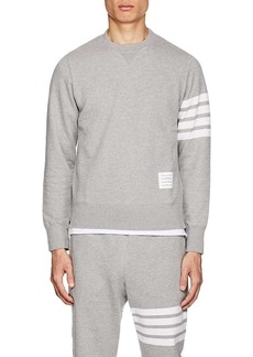 Thom Browne Men's Block-Striped Cotton French Terry Sweatshirt