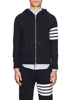 Thom Browne Men's Block-Striped Cotton Terry Hoodie