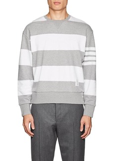 Thom Browne Men's Block-Striped Cotton Terry Sweatshirt