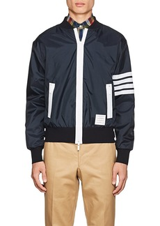 Thom Browne Men's Block-Striped Ripstop Bomber Jacket