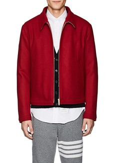 Thom Browne Men's Button-Detailed Wool Melton Jacket