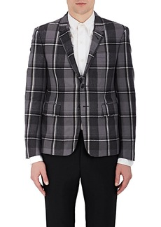 Thom Browne Men's Checked Distressed Wool Three-Button Sportcoat