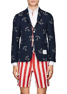 Thom Browne Men's Classic Anchor Cotton Three-Button Sportcoat