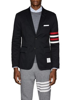 Thom Browne Men's Classic Block-Striped Cotton Three-Button Sportcoat