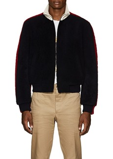Thom Browne Men's Colorblocked Shearling Bomber Jacket