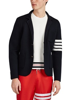 Thom Browne Men's Compact Knit Wool Sportcoat-Style Cardigan