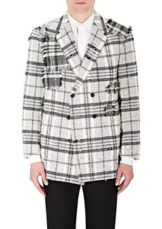 Thom Browne Men's Distressed Cotton-Blend Double-Breasted Sportcoat