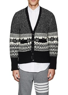 Thom Browne Men's Fair Isle Wool-Mohair Cardigan