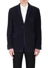 Thom Browne Men's Grosgrain-Trimmed Distressed Cotton Three-Button Sportcoat