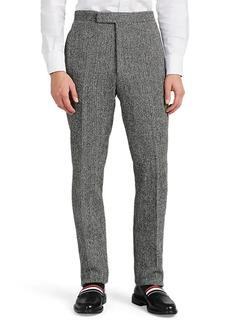 Thom Browne Men's Herringbone Wool Tweed Slim Trousers