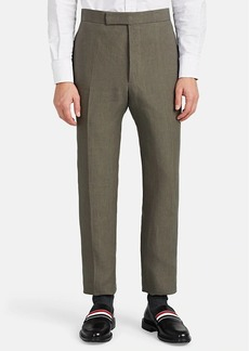 Thom Browne Men's Linen Flat-Front Trousers
