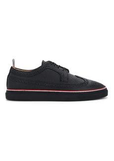 Thom Browne Men's Pebbled Leather Wingtip Sneakers