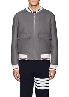 Thom Browne Men's Reversible Wool Bomber Jacket