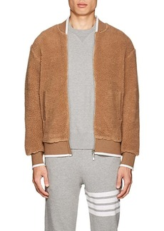 Thom Browne Men's Sherpa Zip-Front Bomber Jacket