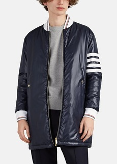 Thom Browne Men's Tech-Ripstop Elongated Bomber Jacket