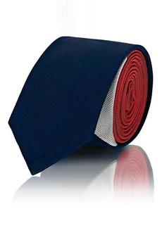 Thom Browne Men's Tennis-Racket Colorblocked Silk Necktie