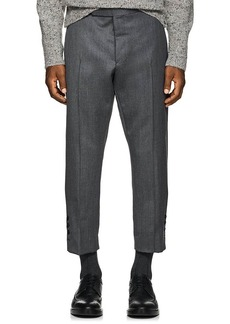 Thom Browne Men's Wool Slim Crop Trousers