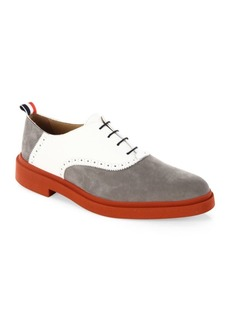 Thom Browne Multicolor Nubuck & Leather Oxfords