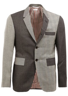 Thom Browne notched lapel patterned blazer - Grey