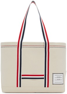 Thom Browne Off-White Small Tool Tote