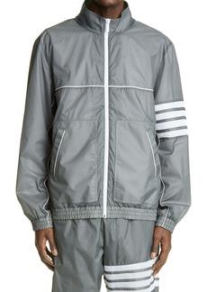 Thom Browne Oversize Zip Front Track Jacket