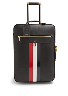Thom Browne Pebbled-leather cabin suitcase