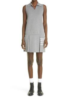 Thom Browne Pleated Shift Knit Minidress