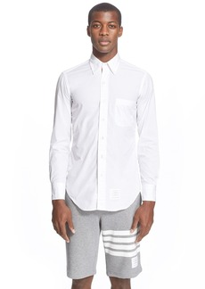 Thom Browne Poplin Shirt with Grosgrain Placket