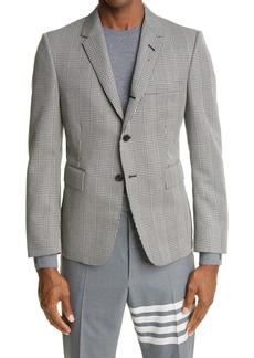 Thom Browne Prince of Wales Wool Cavalry Twill Sport Coat