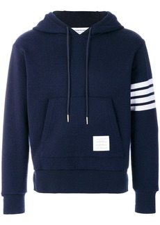 Thom Browne 4-Bar Cashmere Shell Relaxed Hoodie