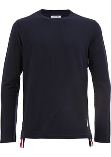 Thom Browne Center-Back Stripe Relaxed Piqué Tee