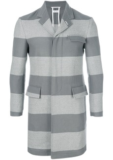 Thom Browne Rugby Stripe Unconstructed High-Armhole Chesterfield