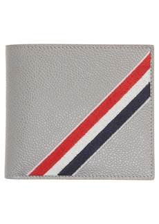Thom Browne RWB Embroidered Leather Biflold Wallet