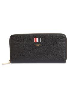 Thom Browne RWB Long Zip Around Leather Wallet