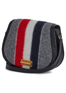 Thom Browne RWB Wool Blend Shoulder Bag